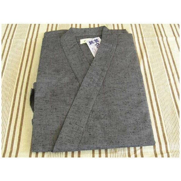 久留米絣 作務衣 紳士用(灰)の商品画像