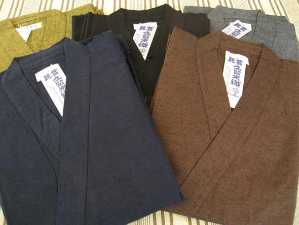 久留米絣 作務衣 紳士用(灰)の紹介画像3