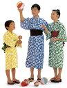日本製 子供浴衣(四本紐つき)しぼり柄【寝巻き浴衣】【業務用】
