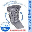 【ネコポス便送料無料】【A456016】【メーカー取寄商品】布製 男性用 安心 吸水パッド