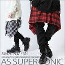 スカート アシメスカート チェック ファッション フラップ セックス