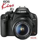 キヤノン EOS Kiss X3 Digitalデジタル一眼レフカメラ+EF-S18-55ISレンズキット『即納~2営業日後の発送』[02P05Nov16]【コンビニ受取対応商品】