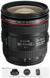 【】Canon EF24-70mm F4L IS USM (RU,IF)『納期1週間ほど』0.7倍のマクロ撮影が可能なIS手ブレ軽減機能付き大口径F4標準ズームレンズ【RCP】[f