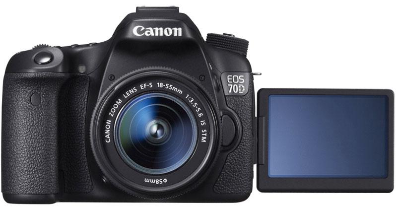 キヤノン EOS 70D(W)・EF-S18-55 IS STMレンズキット『即納〜2営業日後の発送予定』[Canon EOS70D Body + Canon EF-S18-55mm F3.5-5.6 IS STM標準ズームレンズキット]【smtb-TK】[02P09Jul16]【コンビニ受取対応商品】