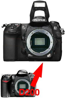Nikon D200-Fujifilm FinePix S5 Pro digital SLR an SLR body upgrade fs3gm