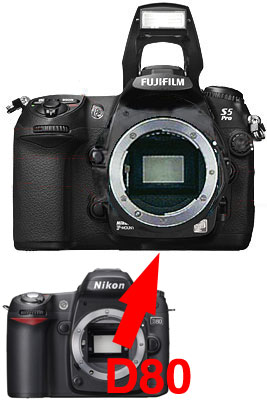 Nikon D80-Fujifilm FinePix S5 Pro digital SLR an SLR body upgrade fs3gm