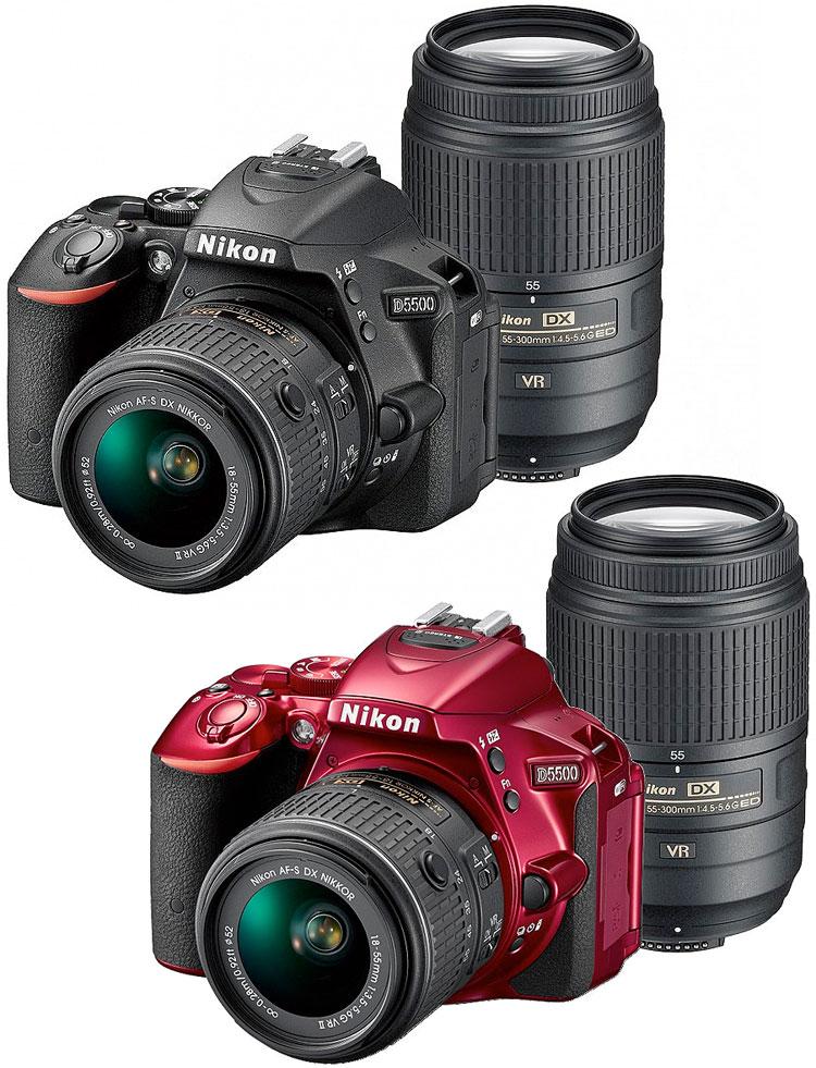 Nikon D5500ダブルズームキット[カメラバッグ+8GB SDHC付]小型軽量!Wi-Fi&タッチパネル搭載D5500ボディ+AF-S DX NIKKOR 18-55mm f/3.5-5.6G VR II+ AF-S DX NIKKOR 55-300mm f/4.5-5.6G ED VR【売れ筋】[P19Jul15] 【スーパーポイントアップ4~7倍!】[3年保険付]【送料無料】