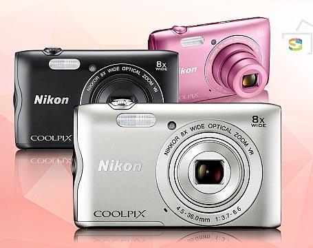 Nikon COOLPIX A300 デジタルカメラ 『即納〜3営業日後の発送予定』広角25mm相当からの光学8倍ズーム搭載の小型デジカメ【smtb-TK】【RCP】[fs04gm][02P01Oct16]