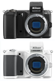 "Nikon 1 V 2 body only ニコンデジタルミラーレス SLR ""instant delivery ~ 3 business days after shipping plan ' can cut the moment small, lightweight next generation premium cameras (black and white) fs3gm"
