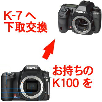 Pentax K-7 ← K100D super/*ist-DS2 digital single-lens reflex camera body upgrading fs3gm