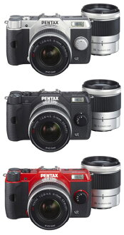 "PENTAX Q10 double zoom lens Kit color ""quick delivery-2 business days after shipping plan ' (silver/black/red) Q10 + 02 STANDARD ZOOM+PENTAX-06 TELEPHOTO ZOOM"