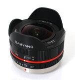 SamYang 7.5mm F3.5 FISH-EYE LENS MFT『納期未定予約』マイクロフォーサーズ専用のマニュアルフォーカスフィッシュアイレンズ(魚眼レンズ)【smtb-