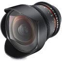 SAMYANG 14mm T3.1 VDSLR ED AS IF UMC for Nikonニコンマウント『1〜3営業後の発送』シネマ用絞り機能搭載非球面レンズAspherical採用スーパーワイドレンズ【RCP】[fs04gm][02P05Nov16]