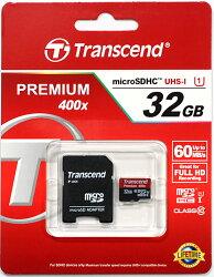 トランセンド32GBClass10UHS-I高速microSDHCメモリーカードTS32GUSDU1[トランセンド永久保証付]マイクロSDカード+SDアダプタ『TS32GUSDHC10の後継』