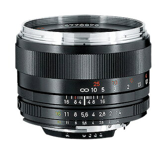 CarlZeiss PlanarT*1.4/50mmZF.2 available minute (50 mm F1.4 CPU built-in Nikon F mount manual focus lens)