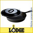 【エントリーでポイント10倍 6/25 20-24時限定】ロッジ ロジック・スキレット&カバーセット 9インチ [ L6SK3 ]LODGE LOGIC SKILLET PANS[クッカー アウトドア用品 バーベキュー]
