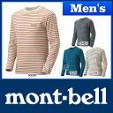 モンベル WIC.ボーダーロングスリーブT Men's #1104818 [ モンベル montbell mont-bell | モンベルwic | モンベル tシャツ メンズ 長袖 ウイックロン ][男性用]