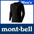 モンベル ジオライン EXP.ラウンドネックシャツ Men's #1107518 [ モンベル montbell mont-bell | モンベル ジオライン tシャツ | アンダーウェア メンズ | ヒート インナー ]