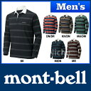 モンベル WIC.ラガーシャツ ロングスリーブ Men's #1104782 [ モンベル montbell mont-bell | モンベル ウイックロン メンズ ][男性用]