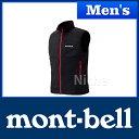 モンベル ウインドブラストベスト Men's (ブラック) #1103266(BK) 0824楽天カード分割