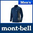 モンベル クール ロングスリーブジップシャツ Men's (ネイビー) #1104930(NV)