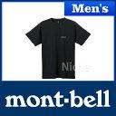 モンベル WIC.T ワンポイントロゴ Men's (ブラック) #1114110(BK)