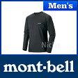 モンベル クールロングスリーブT Men's (ガンメタル) #1114121(GM)