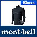 モンベル アクアボディ ロングスリーブシャツ Men's (ブラック) #1127341(BK) 0824楽天カード分割