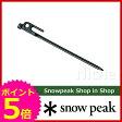 スノーピーク ソリッドステーク20 [ R-102 ] [ スノー ピーク ShopinShop | テント ペグ ソリステ | キャンプ 用品 オートキャンプ 用品 | SNOW PEAK ][P5]