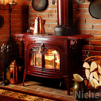 Wood-burning stoves, Vermont castings / Encore (red) fireplace and