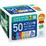 夕方6時まで当日発送[エコリカ] エプソン IC6CL50 互換リサイクルインクカートリッジ 6色パック ECI-E506P/BOX