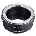 [K&F CONCEPT]KF-CYX レンズマウントアダプター(レンズ側:ヤシカ・コンタックスマウント→カメラ側:フジX)