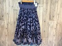 ☆裾フリルがとっても綺麗☆【ギャザーの細かさが自慢】フラダンスのパウスカートハワイアンキルトのMiu-Mint製作p00574-2
