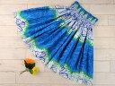 【ギャザーの細かさが自慢】フラダンスのパウスカートハワイアンキルトのMiu-Mint製作p00229 スカート丈65cm