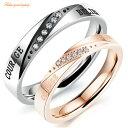 ショッピングペアリング ペアリング サージカルステンレス316L ピンクゴールド ダイヤモンド 金属アレルギー対応 18K ピンクゴールド ステンレス 鍍金 シンプル ひねり 細身 上品 おしゃれ 指輪 マリッジリング 結婚指輪 LOVE 2本セット価格