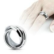 3連ステンレスリング(RRT005) サイズ/10号/13号/15号/18号/21号 3本 シンプルな指輪 サージカルステンレス316L メンズ レディース ペアリング プレゼント ギフト 結婚 婚約 記念日 誕生日 ピンキーリング ファランジリング プレーン 重ね付け 中指 親指 薬指 小指