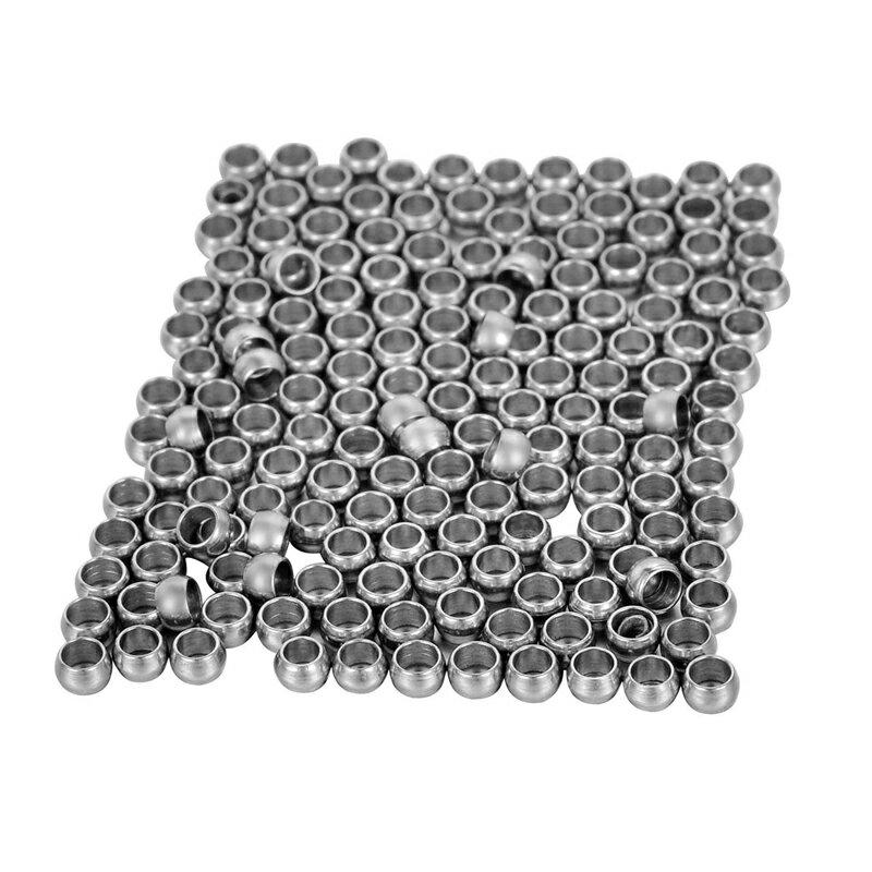 1.7mm用 1.7mmワイヤー用 1.7mmテグス用 1.7ミリ革紐用 1.7mmロープ用 ステンレスリングパーツ サージカルステンレス ビーズパーツ 通す ネックレス ブレスレット アンクレット DIY 手作り 材料 フリマ 部品 クラフト アクセサリー ハンドメイド 穴開き 甲丸リング M11815