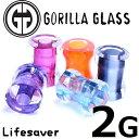 [ 2G GORILLA GLASS ボディピアス ] ゴリラグラスライフセーバー Lifesaver 2ゲージ 2ga ゴリラグラスジュエ...