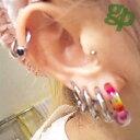 MinatOさんの耳のボディーピアス写真★ジュエルビーズリング/14ゲージ(ボールサイズ:4〜6mm)(GG)(M)