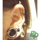 怜@存在価値なさげさんの耳のボディピアス画像☆フレッシュチューブ/16.0mm(GG)(M)