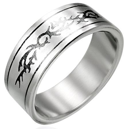 ヴィントライバルリング(PRB080)サイズ/18号 いばら とげ ステンレスリング 指輪 サージカルステンレス316L 低アレルギー メンズ レディース ペアリング プレゼント ギフト 結婚 婚約 記念日 誕生日 ピンキーリング ファランジリング