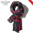 【ポイント10倍 12/4 20:00~12/11 01:59まで】 アバクロ スカーフ 正規品 Abercrombie&Fitch TheBlanketScarf 154-540-0326-023
