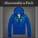 アバクロ Abercrombie&Fitch 正規品 メンズ ジップアップパーカー Upper Hudson Hoodie BLUE