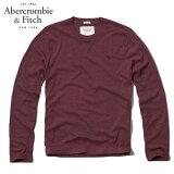 アバクロ Abercrombie&Fitch 正規品 メンズ 長袖Tシャツ MOOSE CREEK TEE 124-236-0707-056