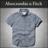 ���Х��� Abercrombie��Fitch ������ ��� Ⱦµ����� GINGHAM CHECK TWILL SHORTS SLEEVE SHIRT 125-125-0191-028 10P18Jun16