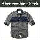 アバクロ Abercrombie&Fitch 正規品 メンズ 長袖シャツ MUSCLE FIT COLORBLOCK OXFORD SHIRT 125-168-2106-203