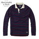 アバクロ Abercrombie&Fitch 正規品 メンズ 長袖ラガーシャツ LOGO LONG-SLEEVE POLO 121-224-0758-204