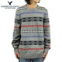 【ポイント10倍 4/28 10:00〜5/1 9:59】 アメリカンイーグル AMERICAN EAGLE 正規品 メンズ セーター CREW SWEATER 0512-9958