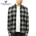 ショッピングソフト アメリカンイーグル シャツ メンズ 正規品 AMERICAN EAGLE 長袖シャツ ネルシャツ AE Seriously Soft Flannel Shirt 2151-1031-006