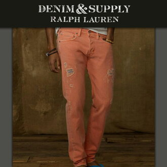 DENIM SUPLLY RALPH LAUREN Ralph Lauren genuine mens jeans Slim-Fit Colored Jean ORANGE A44B B1C C2D D1E E10F10P04oct13